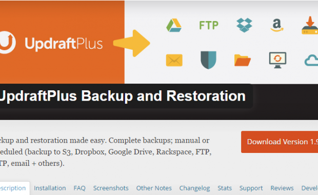 Updraft - Backup Wordpress in Google Drive