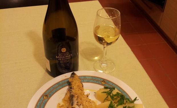 Macrou in sos Dijon cu Chardonnay